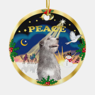 Xmas Sunrise -  Irish Wolfhound Christmas Ornament
