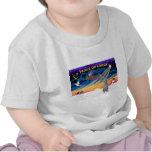 Xmas Sunrise - Scottish Deerhound T-shirt