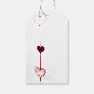 Xmas tag hearts