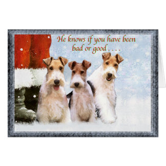 Xmas Terriers Greeting Card