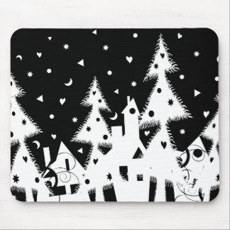Xmas town_white mouse mat