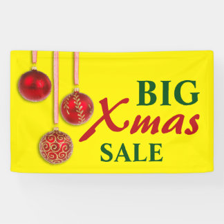 Xmas Tree Baubles red + your ideas Banner