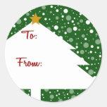 Xmas Tree Gift Sticker