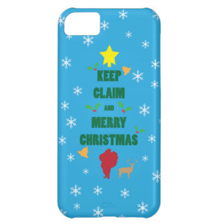 X'mas Tree Keep Claim and Merry Xmas iPhone 5 Case