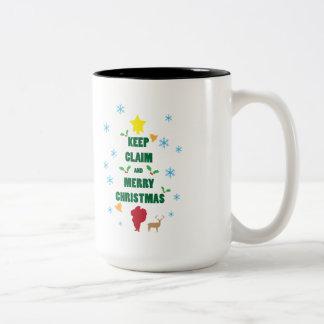 X'mas Tree Keep Claim and Merry Xmas Mug