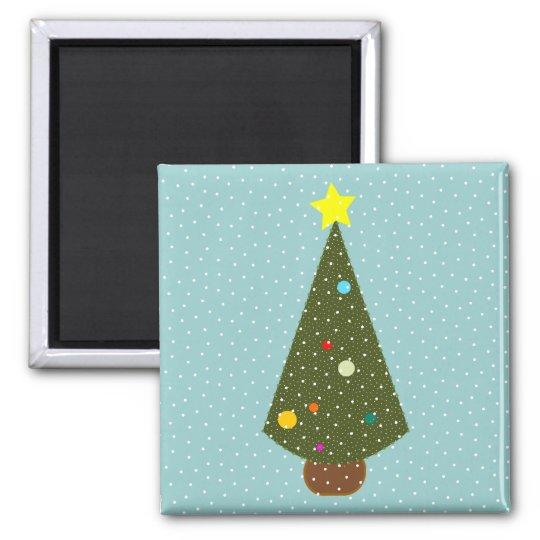 xmas tree snow magnet