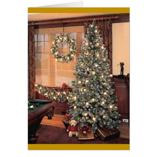 Xmas Tree with wreath Card