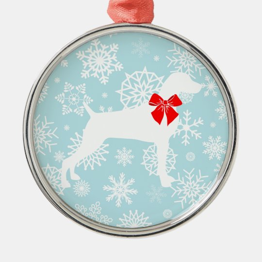 XMAS WEIM WITH SNOWFLAKES ORNAMENT