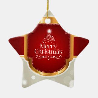 Xmas wishes ceramic star decoration