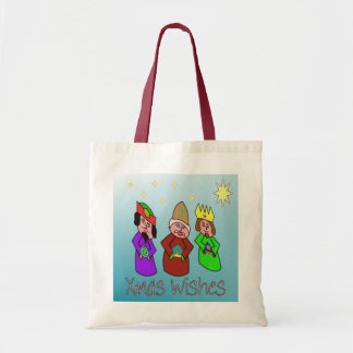 Xmas wishes from Three Wise Men Budget Tote Bag