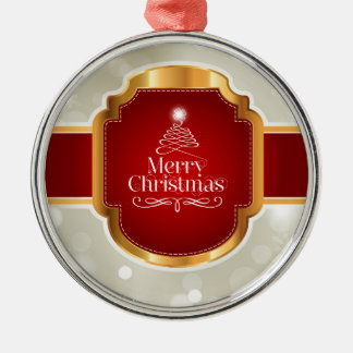 Xmas wishes Silver-Colored round decoration