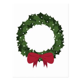 Xmas Wreath Postcard