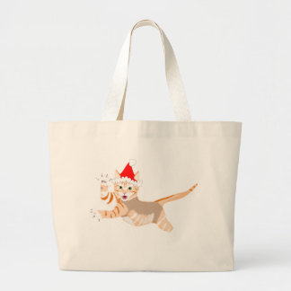 xmascat large tote bag