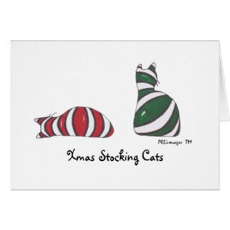 XmasStockingCats, Xmas Stocking Cats Greeting Card