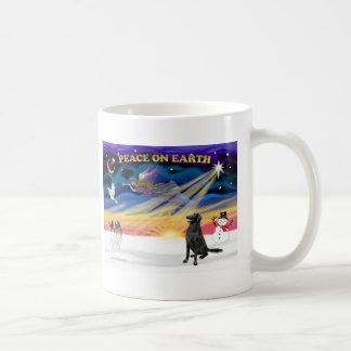 XmasSunrise-Flat Coated Retreiver1 Mug