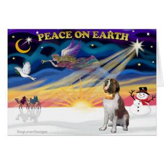 XmasSunrise - Saint Bernard 1 Greeting Card