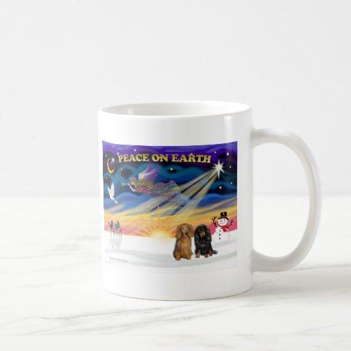 XmasSunrise-Two Dachshunds-LH Mug