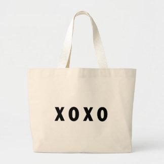 XO Hugs and Kisses Black Jumbo Tote Bag