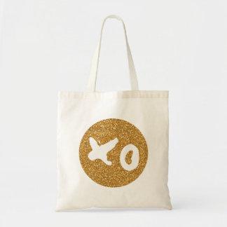 XO Hugs & Kisses Glitter Tote Budget Tote Bag