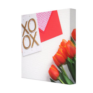 XO Tulips Canvas Print