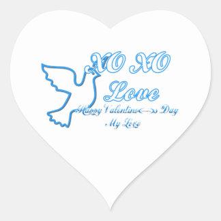 XO XO HEART STICKERS