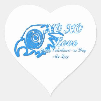 XO XO HEART STICKER