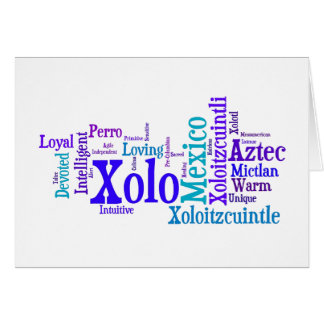 Xolo Blues Greeting Card