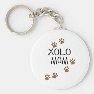 Xolo Mom Basic Round Button Key Ring