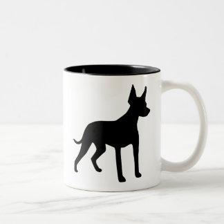 Xoloitzcuintli (Mexican Hairless Dog) Gear Two-Tone Mug
