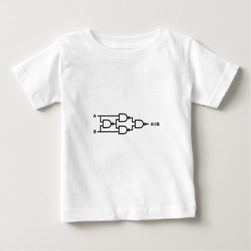 XOR Logic In NAND Gates Baby T-Shirt