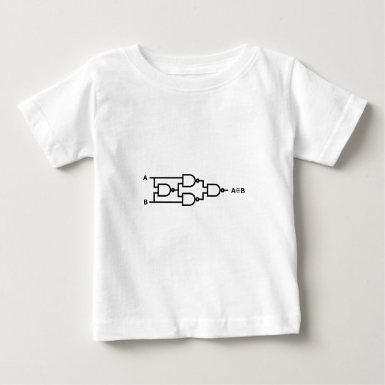 XOR Logic In NAND Gates Baby T-Shirt