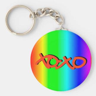 XOXO BASIC ROUND BUTTON KEY RING