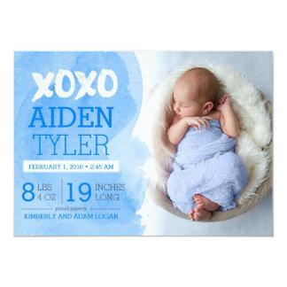 XOXO Birth Announcement