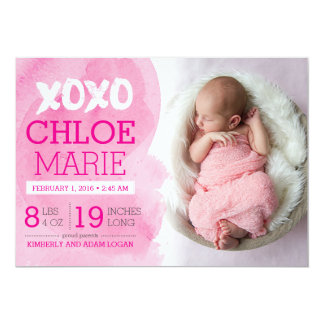 XOXO Birth Announcement