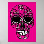 XOXO Forever - Skull Poster on Pink