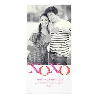 XOXO Glitter Valentine's Day Photo Cards