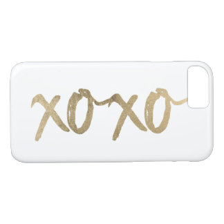XOXO Gold Brushstoke Fashion Chic iPhone 8/7 Case