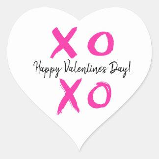 XOXO - Happy Valentine's Day Heart Heart Sticker