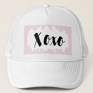 Xoxo Hat Pink Black and White