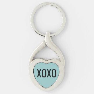 XOXO  Heart Keychain