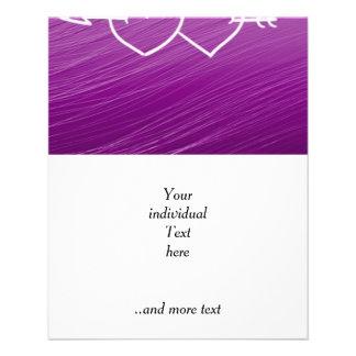 XOXO,hearts,purple (I) 11.5 Cm X 14 Cm Flyer