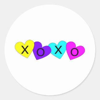 XOXO Hearts Stickers