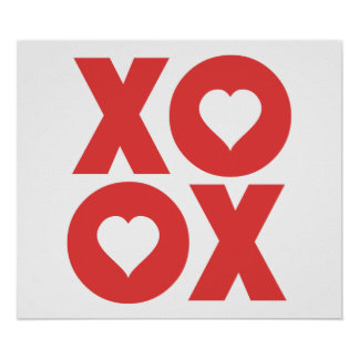 XOXO Hugs and Kisses Valentine's Day Print