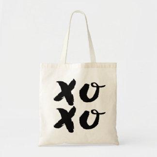 XOXO Hugs & Kisses   Brush Typography Tote Bag