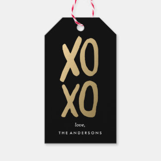 XOXO in Black | Gift Tags