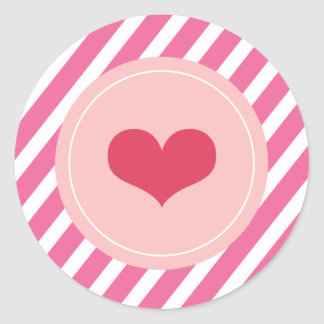 XOXO Love & Kisses Valentine Party 3 Inch Stickers