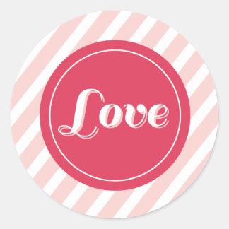 XOXO Love & Kisses Valentine Party 3 Inch Stickers Round Sticker