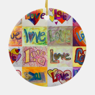 XOXO Love Mosaic Word Ornaments