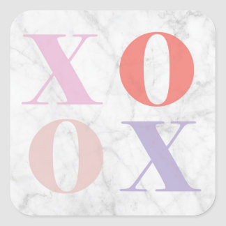 XOXO Marble Sticker