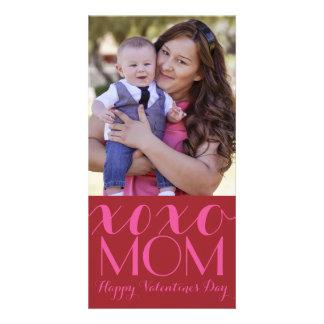 XOXO Mom Valentine Photo Card